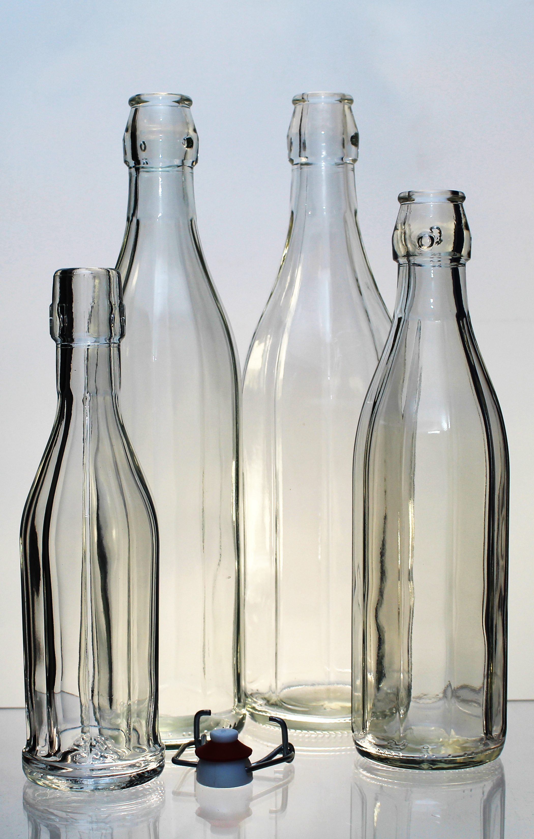 Piccolo gruppo di bottiglie Costolata, che potete trovare nel nostro catalogo